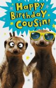 Cousin Meerkat Birthday Card